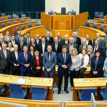 Gruppenfoto der CDU Fraktion im Landtag Rheinland-Pfalz